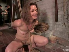 Sarah Shevon gets her pussy toyed and drilled hard from behind