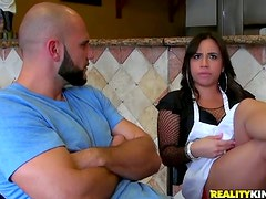 Gabbi Vega the hot waitress gets pounded right in a cafe
