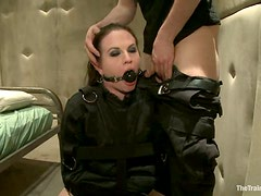 Sophie Monroe Gives Blowjob and Gets Fucked and Toyed in Bondage Video