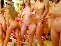 Girls-whores have a lesby-party