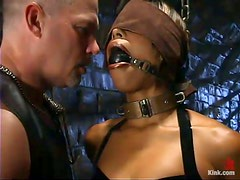 Interracial Bondage and Domination Session with Ebony Marie Luv