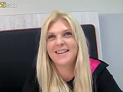Mature blondie Amy enjoys it when she strips