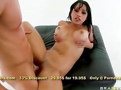Naughty officer Abella Anderson gets it deep inside