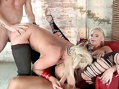 Phoenix Marie and Sadie Swede fuck by hunk dudes