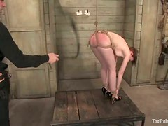 Amber Keen gets chained and stunningly fucked from behind