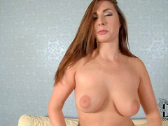 Long haired curvy brunette milf Paige Turnah with natural knockers