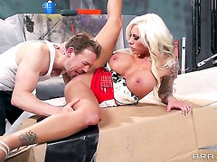 Lolly Ink with gigantic knockers gets used like a