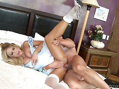 Tasha Reign gets her booty stretched by sturdy