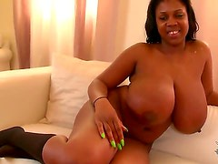 On the casting coach today is the very curvy and bouncy babe maserati. If you are in to big babes, this is for you. Watch as she