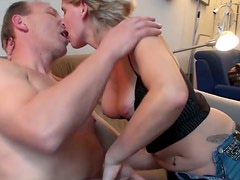 Naughty gf Traude  polishes pole of her boyfriend