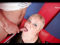 An Anal Creampie For A Fat Mature Blonde