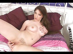Beautiful Teen Fingers Her Shaved Pussy