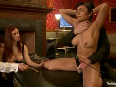 Iona Grace and Maestro Stefanos have BDSM fun indoors