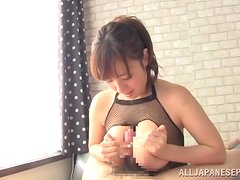 Azusa Nagasawa has doggy style sex with a long-haired dude