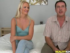 Andrea Francis blows hungrily and gets fucked and facialed