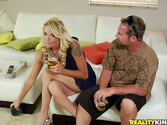 Sensual blond milf is enjoying that huge monster