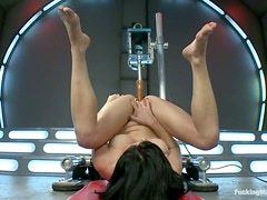 Horny Veruca James gets her wet pussy and ass toyed