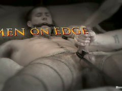 Tied Up Dude Gets Blowjob and Handjob and Ass Toying in Gay BDSM
