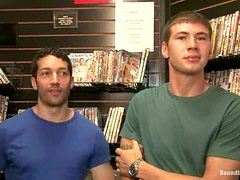 Video store gay fucking with some fetish fags