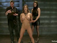 Bonded Bobbi Starr gets toyed and fisted by Ariel X