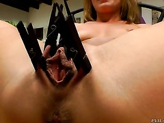 Sheena Shaw takes toy in her snatch