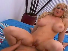 Hot and busty blonde Candy Manson erected Hunters big dick with deep