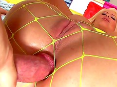 Bitch with big fake juggs Candy Manson has unforgettable pounding with Mike Adriano. The