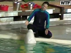 Sweet young dolphin trainer girl Natasha got hotly excited and seduced for