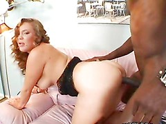 A black monster cock for the busty redhead Ashley Gracie