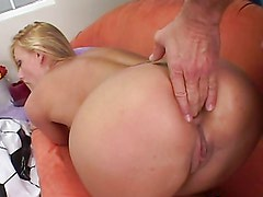 Hot blonde soccer mom sucks cock & gets fucking nailed!