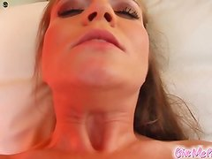 Rita Faltoyano pleasures her Sleaze pussy. She inserts it around A banana then around her panties. A giant cucumber makes its way hard inside her as her juices are flowing.