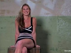 Beautiful Felony gets tied up and pounded with a strap-on