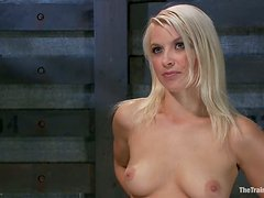 Anikka Albrite gets tortured on a bondage chair and