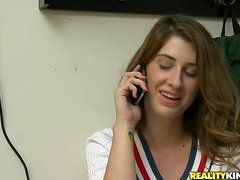 Sex with a luxury teen Karina White starts int eh bathroom