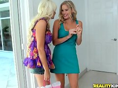 Holly Brooks enjoys eating her GF's pussy in 69 position