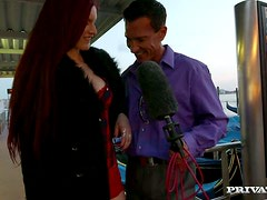 Double Penetration Threesome by Big Cocks for Redhead Mira Sunset