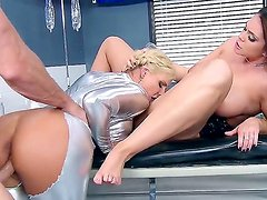 Two busty bitches Alison Tyler and Phoenix Marie enjoy