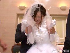 Gangbanging the Japanese Bride Yui Tatsumi after Knocking Out the Groom
