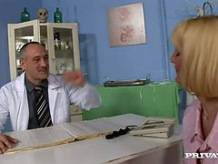 Doctor Gives Anal Fucking to Randy and Slutty Mature Blonde
