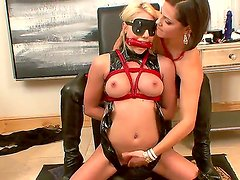 Smoking hot, experienced and lusty brunette and blonde lesbian whores Bobbi Starr and Shawana Lenee