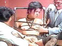 Japanese gets fucked in BDSM