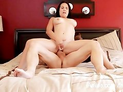 Curvy milf Holly West stuffs her pussy with hard cock