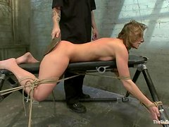 Ariel X gets her snatch toyed and her ass beaten by The Pope