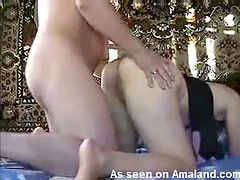Wife with big ass fucked from behind