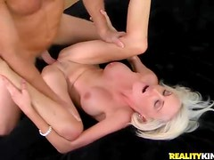Seductive blonde milf with fake tits laid
