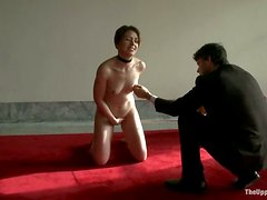 Sarah Shevon enjoys leads on her tits and a toy in her cunt