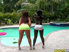 Interracial Foursome with Black Butt and Brown Ass