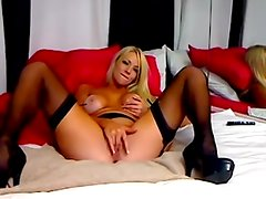 Sexy blond angel squirts and masturbates on livecam
