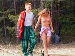 Divine blond Russian babe welcomes hard cock in her mouth for a blowjob