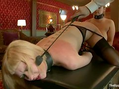 Submissive Cherry Torn gets tortured and fucked rough